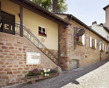 Eingang zur Trattoria im Herzen Saarburgs